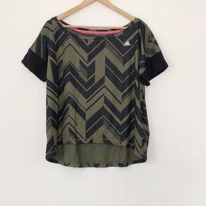 Adidas Climalite Chevron Print High Low Tee Shirt
